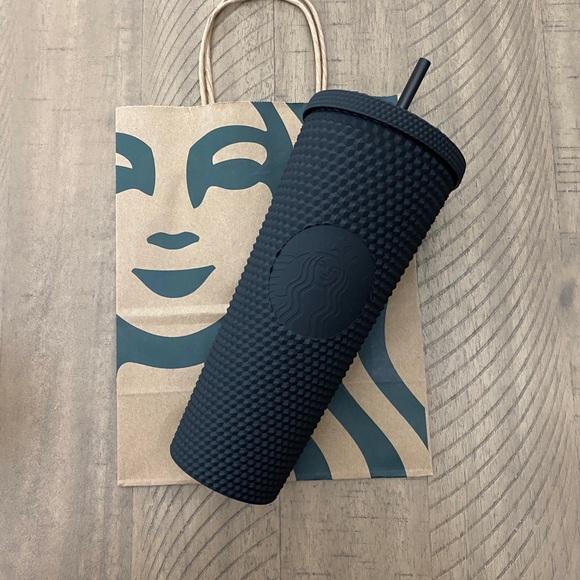 🆕 2021 Starbucks Matte Black studded tumbler